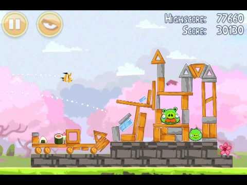 Angry Birds Seasons 1-4 - 3 Stars - Cherry Blossom - Walkthrough