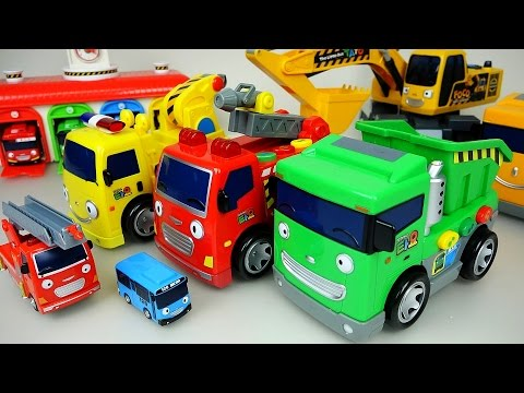 Tayo Heavy car toys and Pororo Robocar Poli car