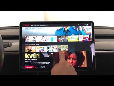 Netflix And YouTube On A Tesla! V10 And More