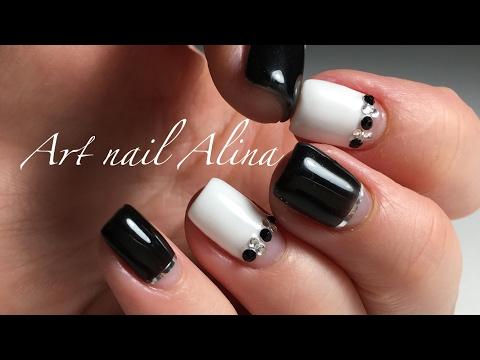 Дизайн черных ногтей коротких