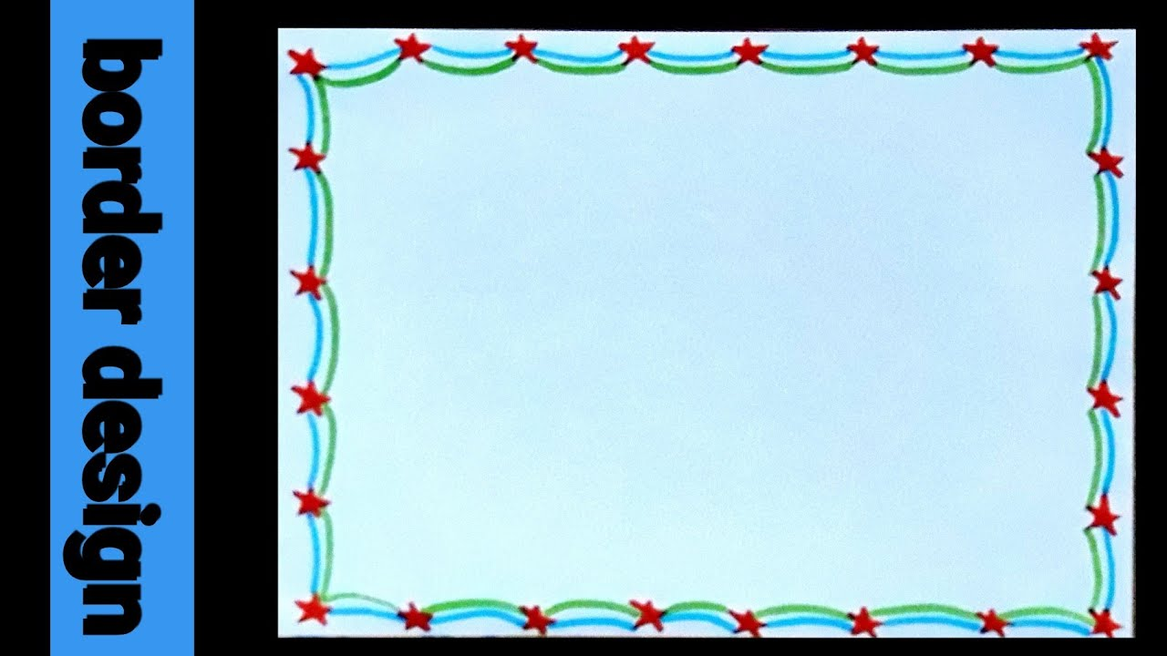 star   star simple border design for project   assignment