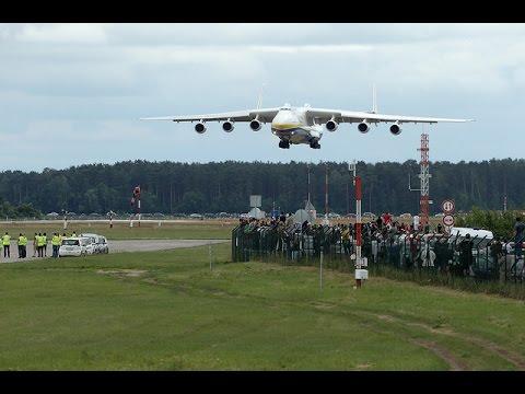 Antonov AN 225 Landing at Riga International Airport 12.06.2014