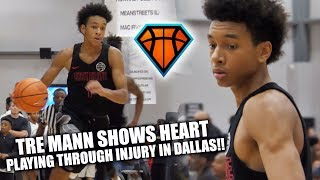 Tre Mann Shows MAJOR HEART IN DALLAS!! | PUSHES Through Injury to Secure an EYBL WIN