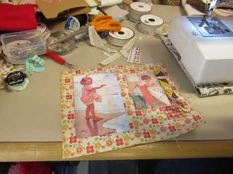 Bobbsey Twins Journals Process: Decorating with Feed Sack fabrics, and Mrs. Cogs images