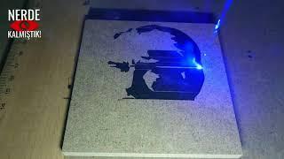 Lazer Gravür çalışmam sonu sürpriz. Eleksmaker A3 PRO 2500mw Lazer Elekscam