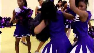 LMG cheerleading squad jamming out