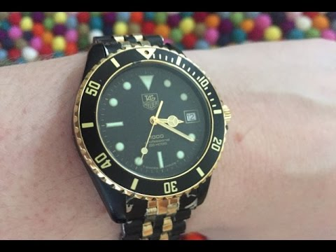 Tag heuer 1000 affordable gold plated vintage dive watch review youtube for Tag heuer divers watch