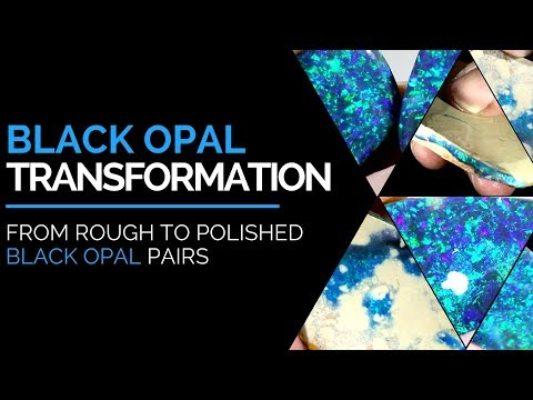 Black Opal Transformation | From Rough to Polished