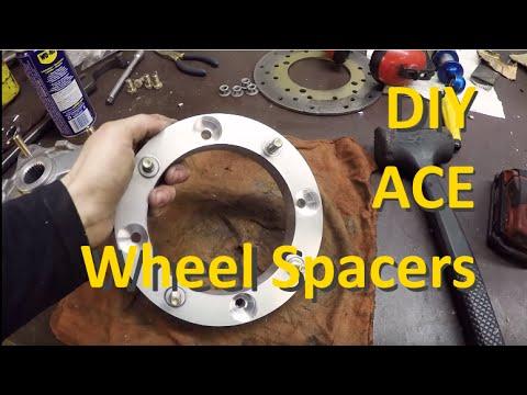 How To Make Polaris Ace Wheel Hub Spacers Diy Youtube