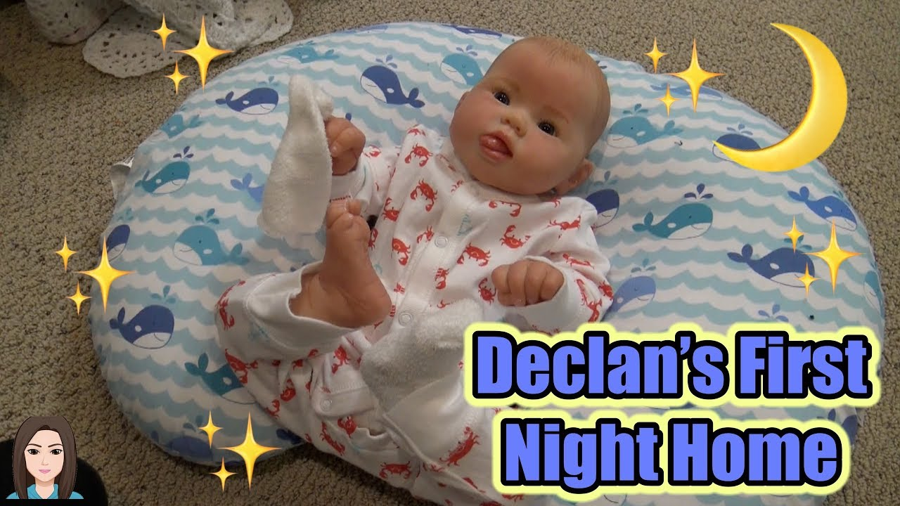 Reborn Baby Declan S First Night Home Kelli Maple Youtube