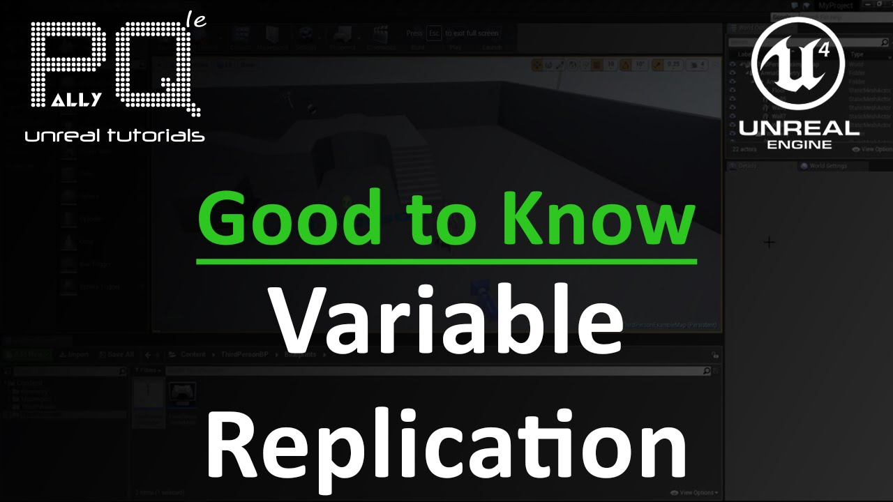 Unreal engine 4 good to know variable replication youtube unreal engine 4 good to know variable replication malvernweather Gallery