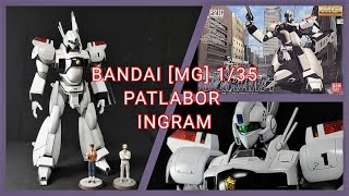 straight build of MG patlabor Ingram. Lacquer paints were used on the model except figures. Figures are painted with acrylics. Gross white and black were used ...