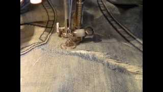 Как заштопать джинсы(Это видео создано в редакторе слайд-шоу YouTube: http://www.youtube.com/upload., 2013-11-18T12:24:11.000Z)