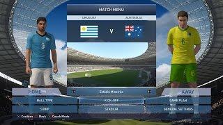 PES 2015 gameplay - Uruguay vs Australia
