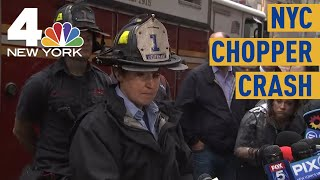 NYC Helicopter Crash: First Firefighter On Scene Describes 'Disintegrated' Chopper | News 4 Now