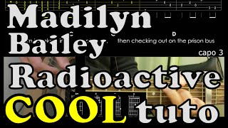 Radioactive - Madilyn Bailey - tuto FR guitar lesson chord tab accord