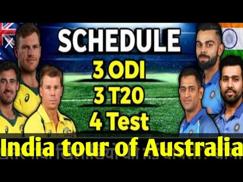 India Vs Australia Series Schedule And Players List Indian Squad For Australia Tour For T20 ODI