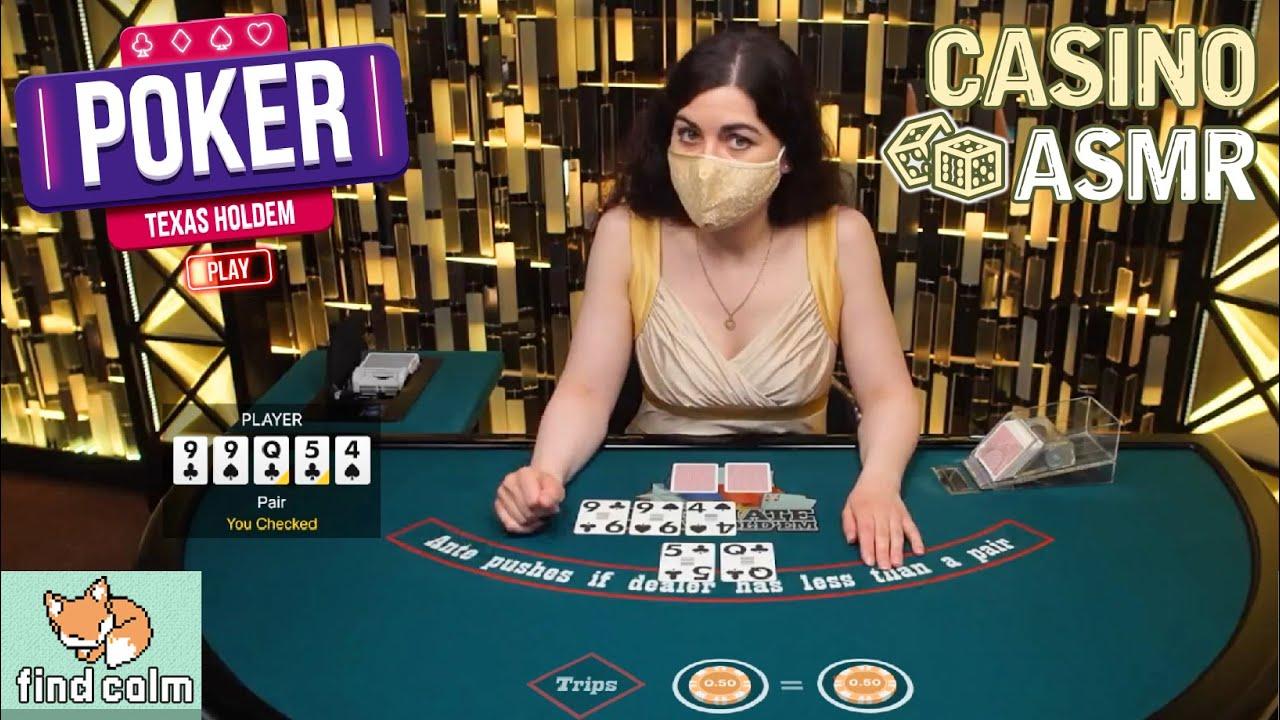 Unintentional ASMR Casino Poker 🃏 Lovely SOFT & QUIET Poker Dealer (Texas Hold'Em)