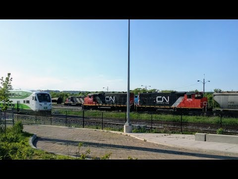 Short And Sweet - Five Engines And A Cab Car At CN Stuart, Hamilton, Ontario On June 3, 2019
