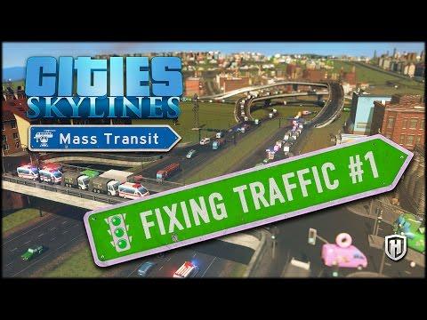 PURE TRAFFIC MAYHEM | Cities: Skylines - Mass Transit DLC : Fixing Traffic Scenario #1