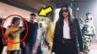 Sonam Kapoor's Bodyguard Misbehaves With A FAN At Airport   Latest Bollywood News