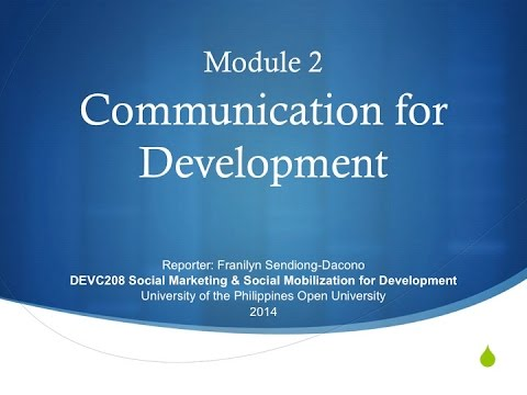 Communication For Development (DEVC 208)