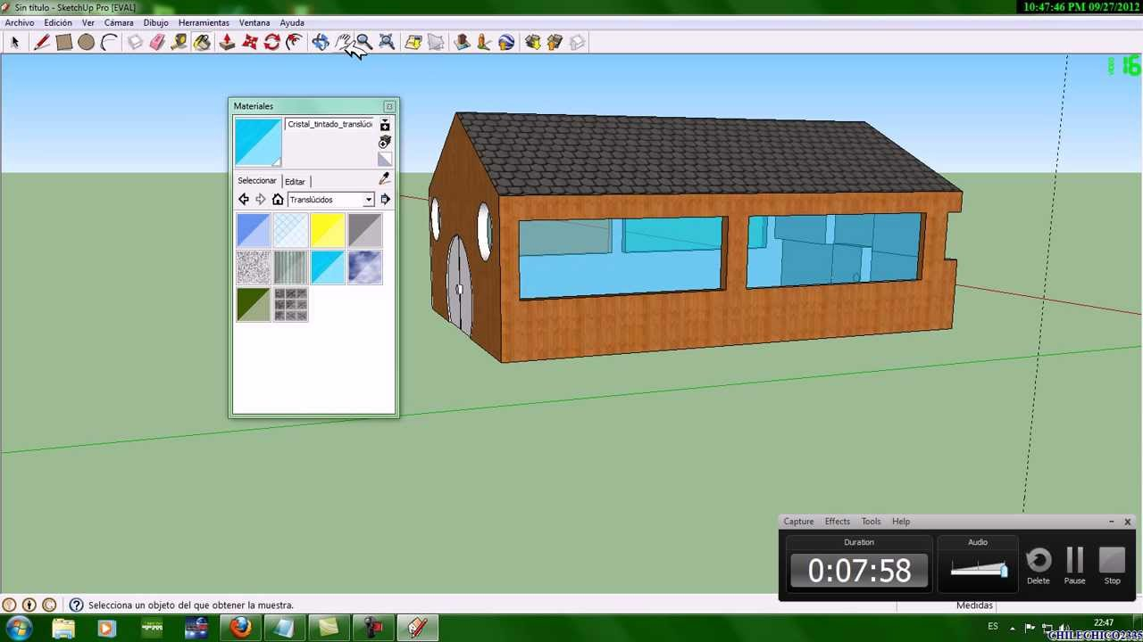 Construir una casa en google sketchup 8 youtube for Alberca 8 x 5