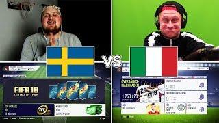 SVERIGE - ITALIEN VM DRAFT CHALLENGE!!! /w SwedishGaming