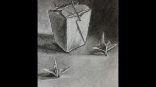 Chinese Take-Out Box Drawing