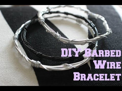 DIY ACCESSORIES: Barbed Wire Bracelet Tutorial!