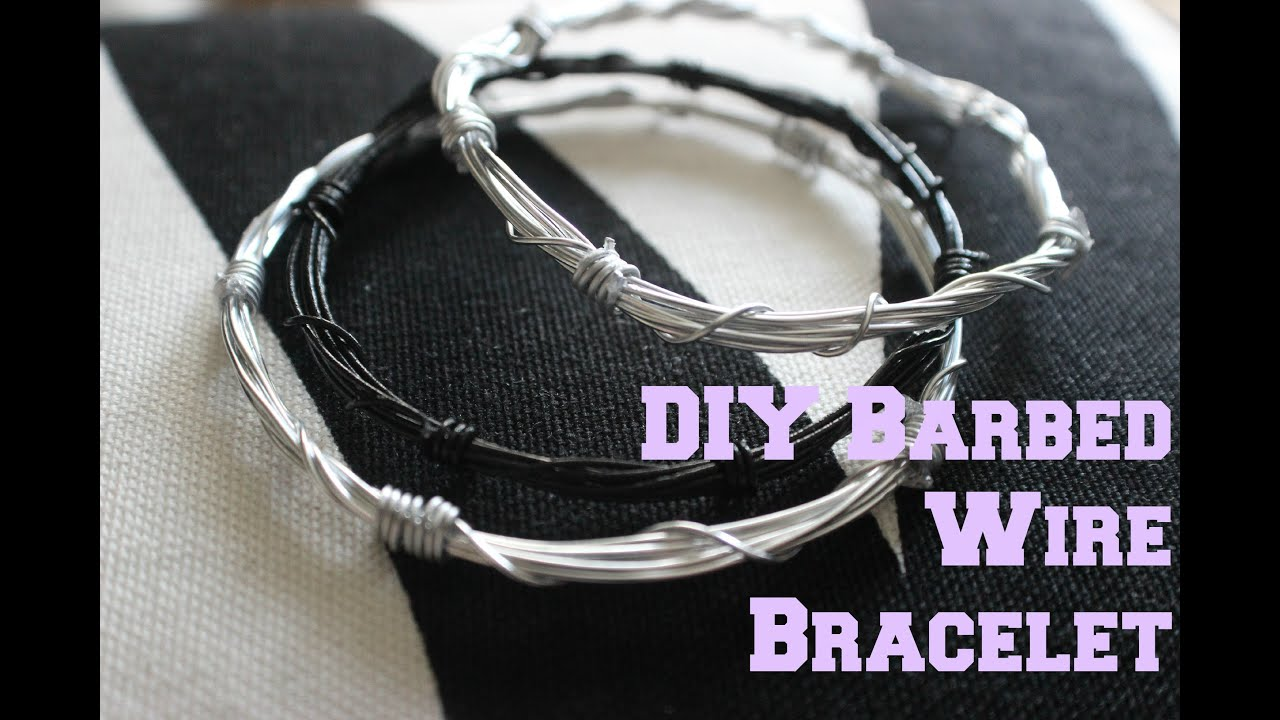 Diy Accessories Barbed Wire Bracelet Tutorial