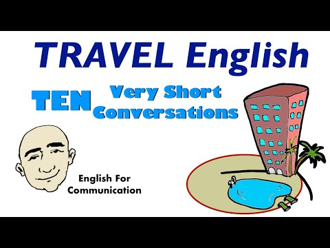Travel English | 10 Very Short Conversations | English Speaking Practice | ESL | EFL