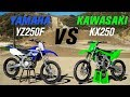 2020 Kawasaki KX250 vs Yamaha YZ250F