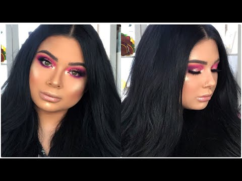 pink and purple glitter eyes |James Charles palette ? thumbnail