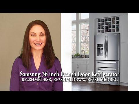 Samsung 36 Inch French Door Refrigerator RF28HMEDBSR