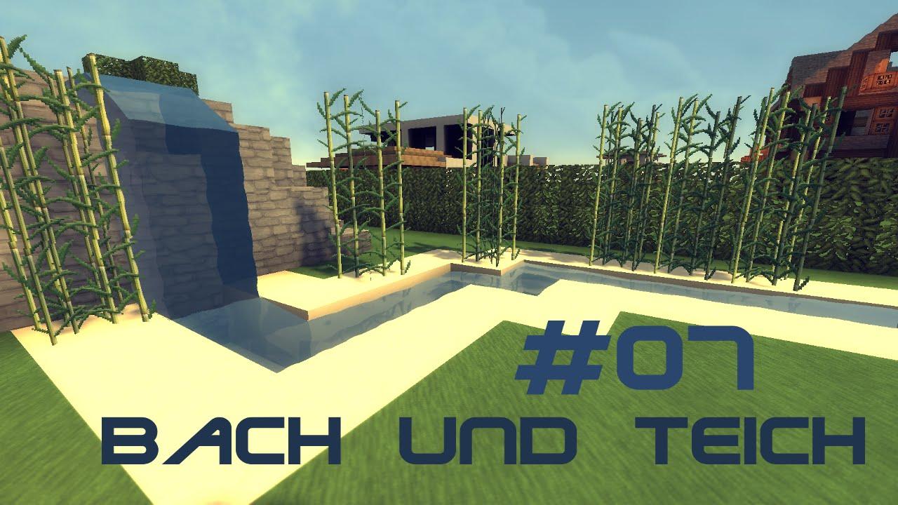 Minecraft Garten Einrichtung Pavillon Brcke Und Teich Tutorial Youtube.