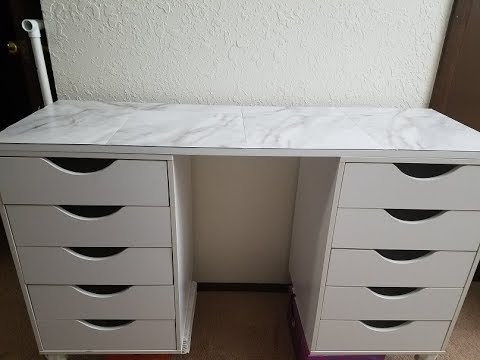 Step By Step Diy Ikea Vanity Dupe Youtube