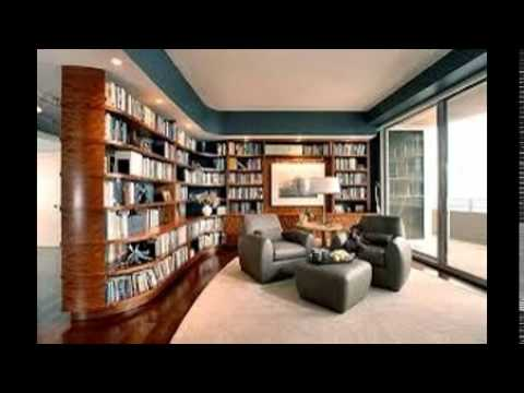 Modern Home Library Design Youtube