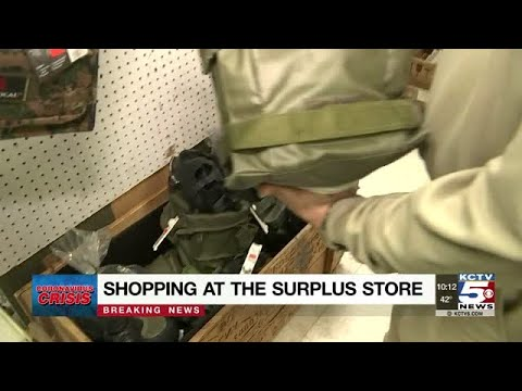 Customers Shop Military Surplus Store As Coronavirus Concerns Grow