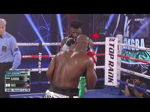 Efe Ajagba vs. Jonathan Rice / Эфе Аджагба – Джонатан Рик