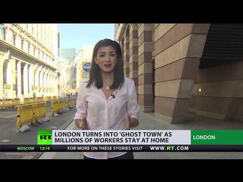'Ghost Town' | London 'abandoned' as millions of employees work remotely