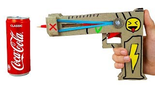 How to Make Fortnite Gun from Cardboard - Powerful Rubber Pistol