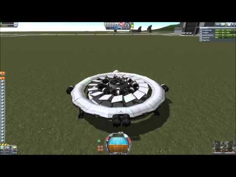 KSP stock turbine VTOL flying saucer