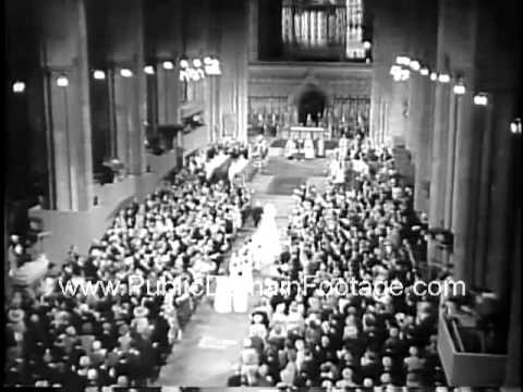 1961 Royal wedding Duke of York weds Katherine Worsley Duchess of Kent newsreel