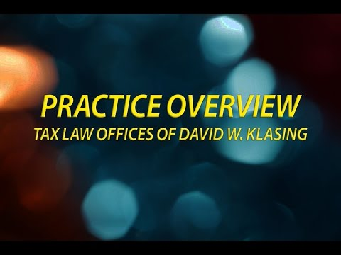 From the Tax Law Offices of David W. Klasing - Can You Transfer...
