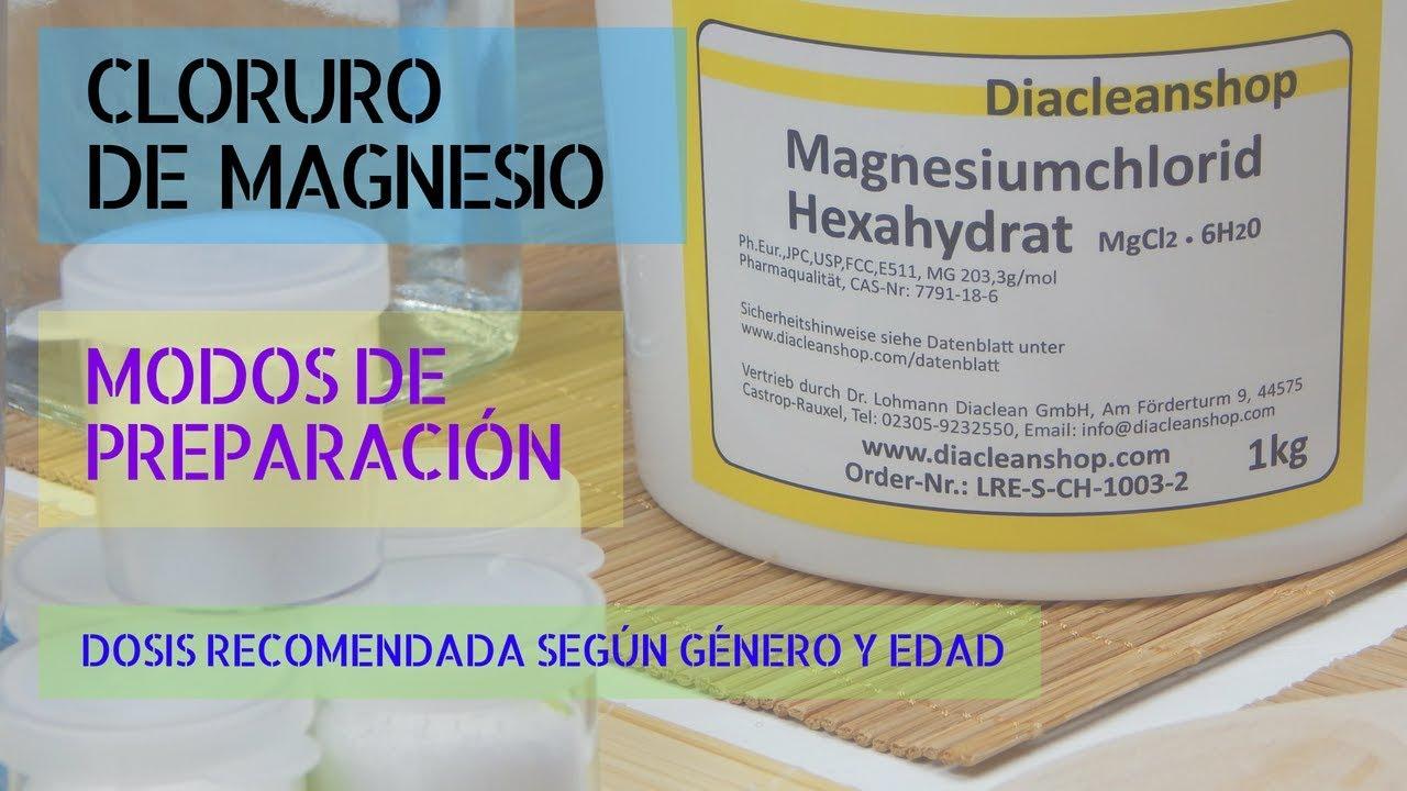 Cloruro de magnesio dosis para adelgazar