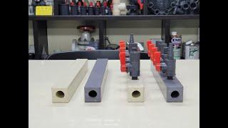 PVC 노즐 파이프. PVC Nozzle Pipe.