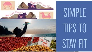 Simple Tips to Stay Fit & Healthy||Healthy Habits||