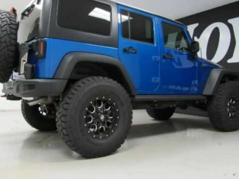 2016 jeep wrangler unlimited 4x4 4 door suv rubicon blue for sale richardson tx youtube. Black Bedroom Furniture Sets. Home Design Ideas