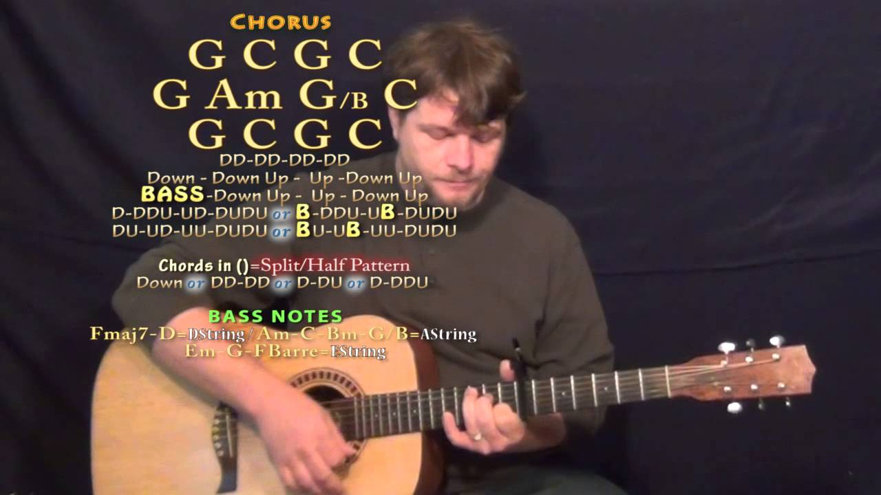 Days Go By Keith Urban Guitar Lesson Chord Chart Capo 7th Youtube